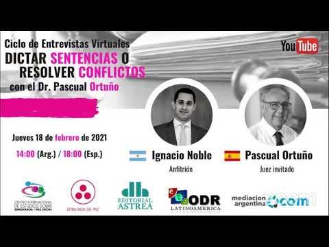 Dictar Sentencias o Resolver Conflictos con Pascual Ortuño