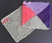MARCH - New to You - 4 triangle square - KNIT