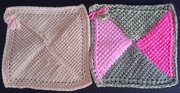 MARCH - New to You - Tunisian Crochet 4 Triangle squares