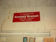 Crawford Grill Sunday Brunch Sign