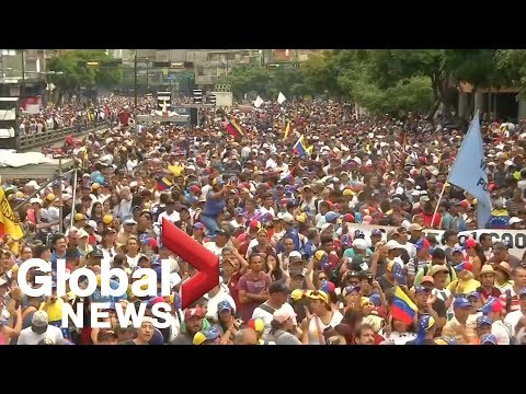 Venezuelans protest Maduro government amid unrest in country