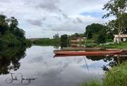 The dugout canoe.