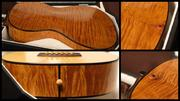 Flamed maple body with decorative back buttons