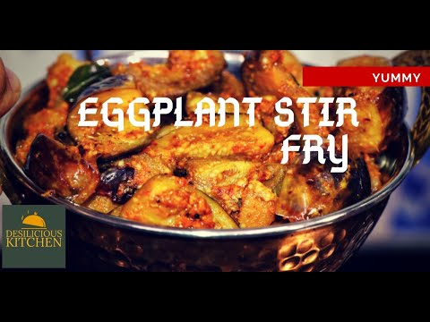 Dry Vegetable Masala Recipe | Spicy Eggplant Stirfry