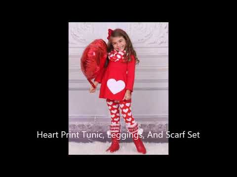 Valentine's Day Outfit and Accessories For Girls