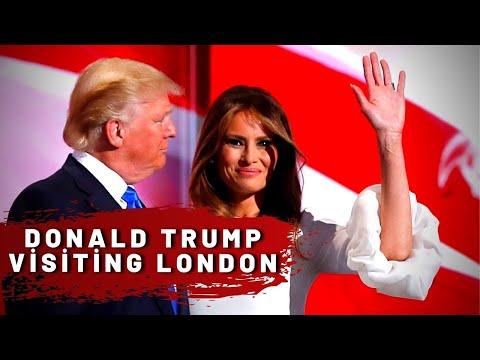 Donald Trump visiting London