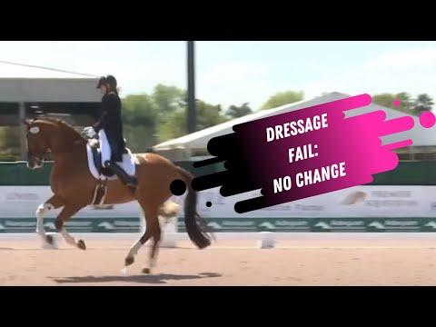 Dressage Fail: No Change