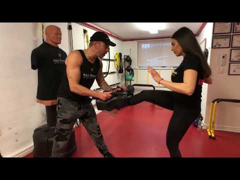 How  To STRIKE the GROIN WOMENS Krav Maga with CANDACE