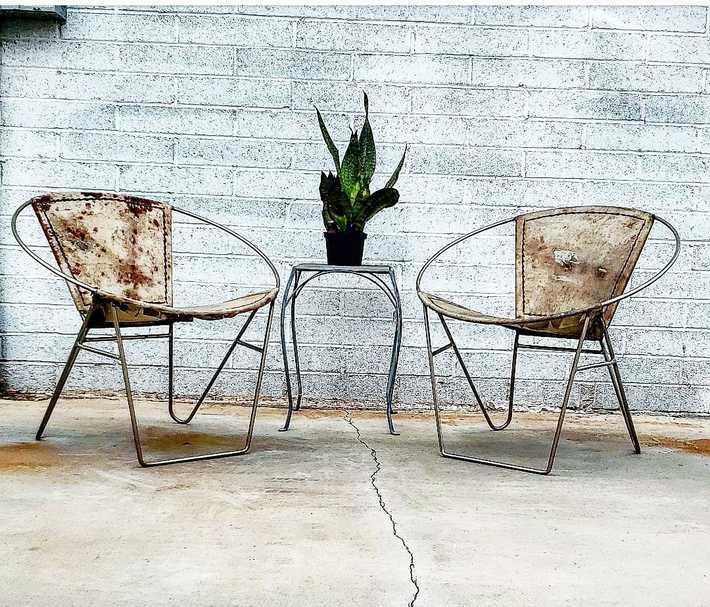 Vintage Iron Hoop Chairs