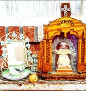 Vintage Mexican Folk Art Shrine