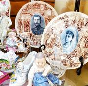 Antique French Plates Czar Nicholas and Alexandra