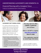 Understanding Alzheimer's and Dementia & Financial Planning With a Caregiver Focus