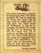 This sums it up.. by Abraham Lincoln