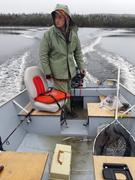 Rain water in the boat