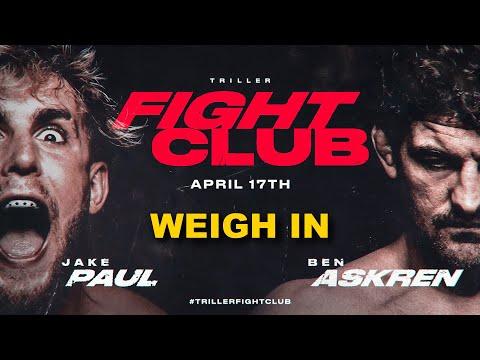 Ben Askren vs Jake Paul - Official Weigh In [FINAL FACE OFF]