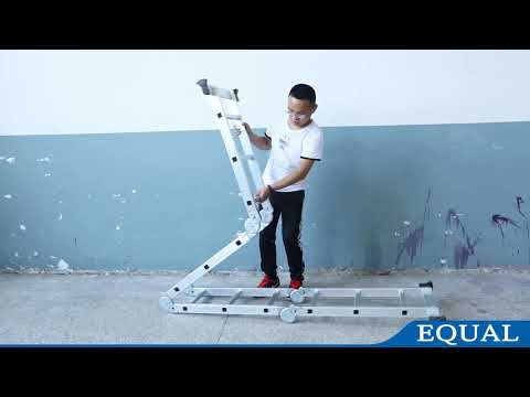 How to Use EQUAL Aluminium Multipurpose Ladder | User Guide