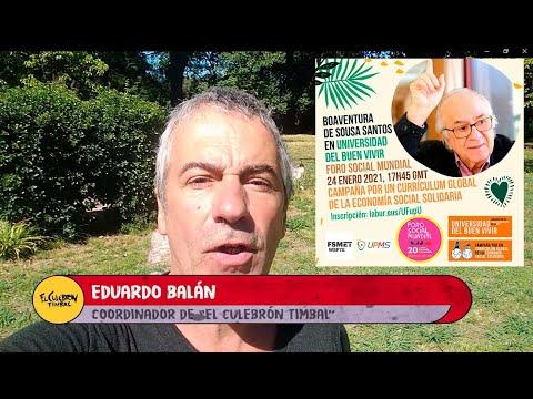 Invitación :: BOAVENTURA DE SOUSA SANTOS en la UNIVERSIDAD del BUEN VIVIR  :: El Culebrón Timbal TV