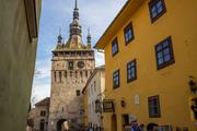 A Vlad Drakul ház és a Segesvári óratorony