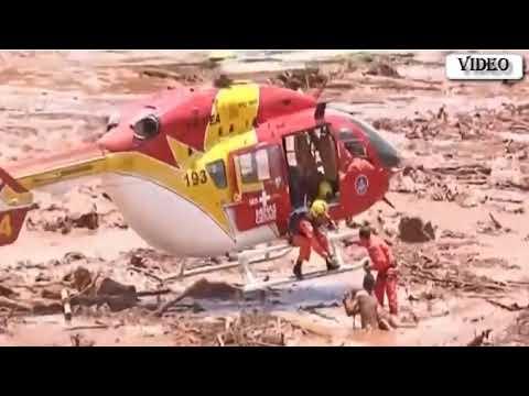Colapsó una represa en Brasil: temen que haya muertos y todo un pueblo quede enterrado en el fango