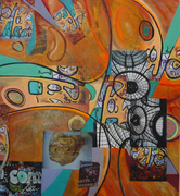 MIXED MEDIA PAINTER, HELENE MUKHTAR, PARTICIPATES IN THINK, AN EXHIBITION ORGANIZED BY ICO GALLERY IN TRIBECA