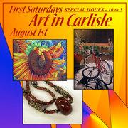 """First Saturdays - Art in Carlisle"" • August 1st"