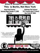 """This Is Berlin, Not New York"" film screening!"