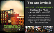 DUMBO Startup Lab: Open House + New Year Party Mixer