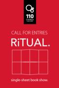 [Call for Entries} RiTUAL. Single sheet book show