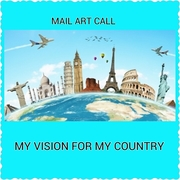 """II International Mail Art call the Art Gallery Getafe theme:  """"My vision for my country"""""""