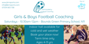 JKM Football Academy - Bounds Green Primary - Sat - 10.30am