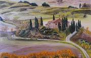 Toskana, Belvedere im Herbst