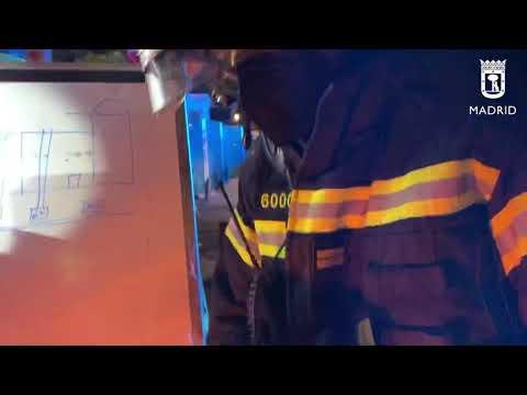 Incendio en cubierta en edificio en rehabilitación Calle Atocha 7mayo21