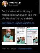 fake obituary