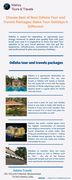 Choose Best of Best Odisha Tour and Travels Packages Make Your Holidays A Different!
