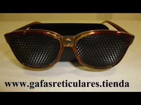 Gafas Reticulares Hexagonales - Gafas de agujeros hexagonales