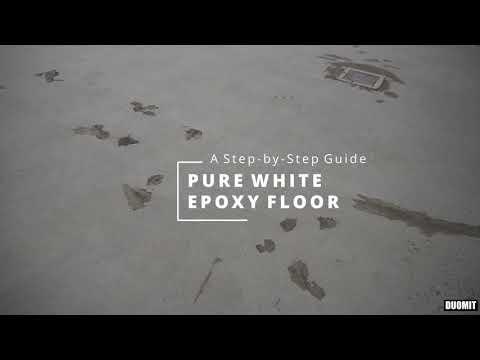 White Epoxy Floor Application