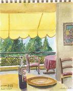 Menton in watercolors