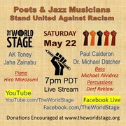 """Poets & Jazz Musicians Stand United Against Racism """"Live-stream - Recordin' """""""