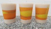 3x Bio Kerze Orange Fruit