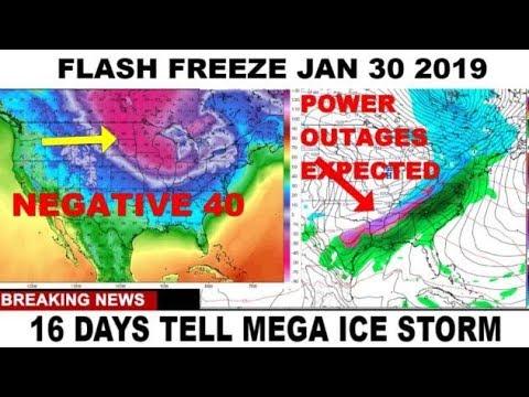 FLASH FREEZE INBOUND 16 DAYS TELL ICE STORM!!! #WEATHER WARFARE LIVE!! #ANALYSIS