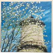 Springtime at the Fresno Water Tower