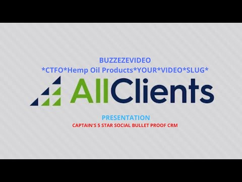 BUZZEZEVIDEO AllClients #1 CRM Built Specifically To Help Very Small Businesses GROW
