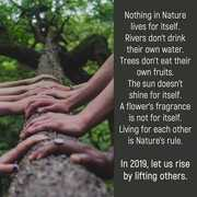Nothing in Nature lives for itself