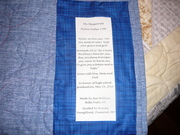 Label for t-shirt quilt