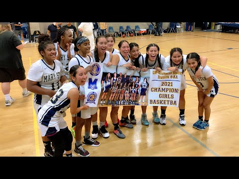Mary Star High School Girls Basketball 2021 Is CIF-Southern Section Division 4-AA Champions!!