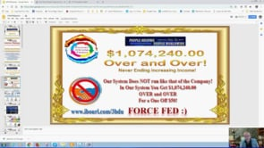 People Helping People Worldwide Run Different,Force Fed, Self Building with a Mega Update Webinar Replay 22nd Jan 2019
