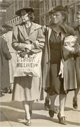 Maxine Parker and Jane Fain Parker 1938 shopping in cincinnati