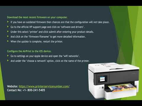 How to set up and configure Air Print on HP Printer?