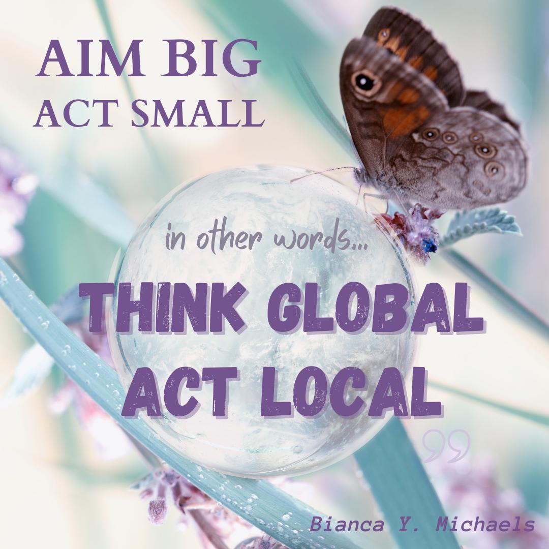 Aim Big Act Small