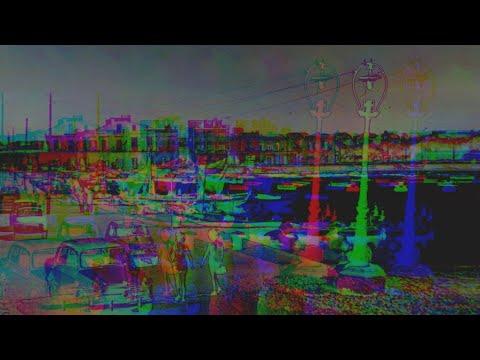 Holy Spirit postcards in glitch art